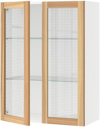 IKEA – Armario de pared con 2 puertas de cristal, Blanco, torhamn Fresno 30 x 15 x 40