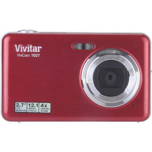 - Vivitar Vivicam T027 12.1 Megapixel Compact Camera - Red - 2.7