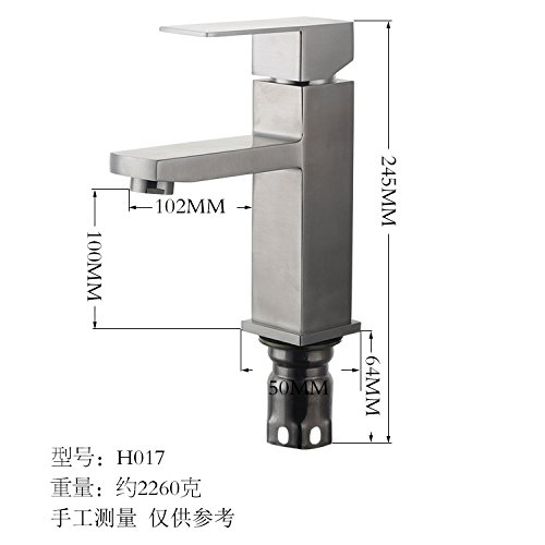A Lpophy Bathroom Sink Mixer Taps Faucet Bath Waterfall Cold and Hot Water Tap for Washroom Bathroom and Kitchen Hot and Cold 304 Single Handle D