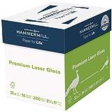 Hammermill Paper, Premium Laser Gloss Paper, 8.5 x 11 Paper, Letter Paper Paper, 32lb, 94 Bright, 8 Packs / 2,400 Sheets (163110C) Acid Free Paper
