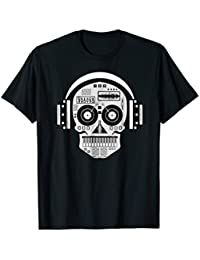 Sugarskull DJ Table Shirt | Skull Disc Jockey Headphones