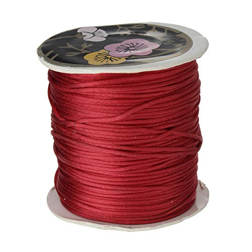 (Laliva 70M/Spool 1MM Nylon Cord String Strap Fit Necklace Bracelet DIY Jewelry Making Accessories 18 Colors to Choose - (Color: red))