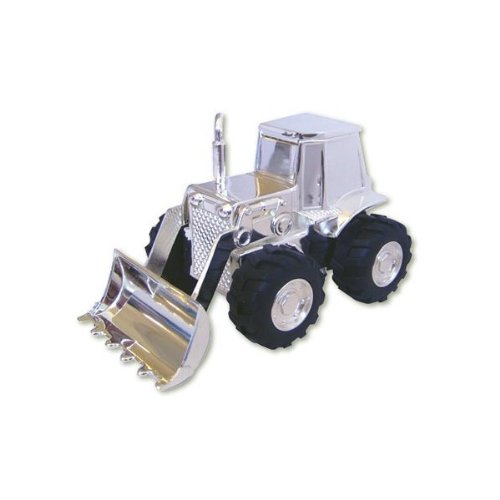 Personalised Birth Birthday or Christening Gift Engraved Silver Plated Digger Money Box Lovely Gift for Babies /& Children