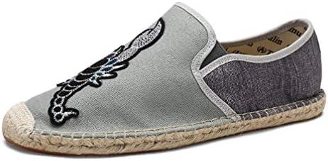 スリッポン キャンバス シューズ メンズ カジュアル ローファー ローカット フラット 滑り止め 履き脱ぎやすい 通学 海辺 私服 職場用 事務所 通気抜群 蒸れない 夏 布靴 かっこいい 黒 麻靴 ジョギング