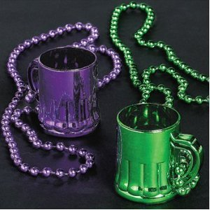 Dozen Plastic Metallic Mardi Gras Traveling Shot (Mardi Gras Party Shot Glass)