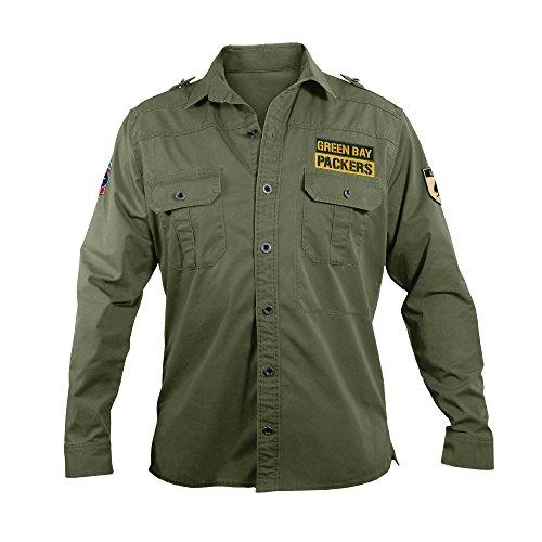 NFL Green Bay Packers Men's Military Field Shirt, Medium