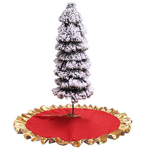 KOOCO Árbol de Navidad Rojo Falda Alfombra Adornos de Fiesta ...