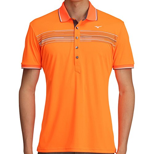 ミズノ MIZUNO 半袖シャツ?ポロシャツ ソーラーカット 半袖シャツ 52MA7013 オレンジクラウンフィッシュ 54 XL