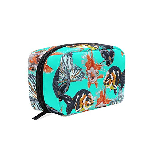 Cosmetic Bag Portable and Suitable for Travel Goldfishes Make Up bag with Zipper Pencil Bag Pouch Wallet -
