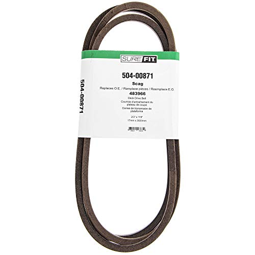 "SureFit Cutter Deck Drive Belt for Scag Replaces 483966 V-Ride Stand-On 48"" Cut Lawn Mowers"