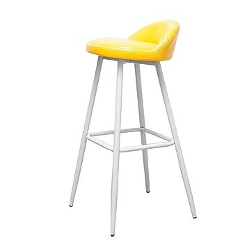 Amazon De Moderne Mode Bar Stuhl Weiss Metall Beine Barhocker