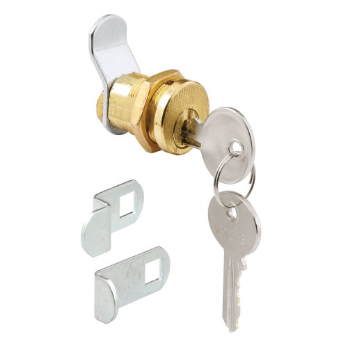 Defender Security S 4648 Mail Box Lock, 3 Cams, 5 Pin, Brass Plated, Pack of 1 Mail Lock