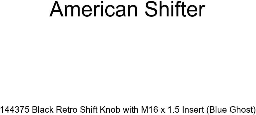 Blue Ghost American Shifter 144375 Black Retro Shift Knob with M16 x 1.5 Insert