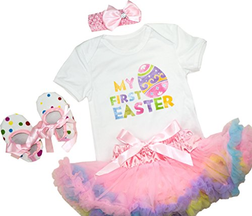 Baby Infant Girls Easter My First Easter Tutu Outfit Set 12-18 (Easter Outfit For Girls)