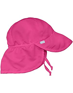 I Play 737101-209-52 Solid Flap Sun Protection Hat - Hot Pink 6-12