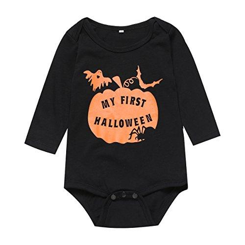 Mini Era Baby Boys Girls Halloween Pumpkin Costume Outfit Bodysuit (3-6 Months)