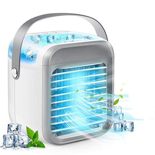 Portable Air Conditioner, Personal Air Cooler 3-in-1 Air Conditioner, Compact Evaporative Cooler Air Humidifier, 3 Wind…