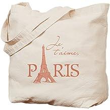 CafePress - Je T'aime Paris - Natural Canvas Tote Bag, Cloth Shopping Bag
