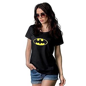 Decrum Womens Batman Classic Logo T Shirt   Black, M