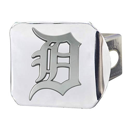 (SLS FANMats Detroit Tigers Premium Metal Chrome Hitch Cover Bumper Trailer Baseball)