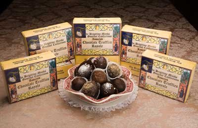 Brigittine Monks Assorted Gourmet Chocolate Royale Truffles, Gift Box 7.5 oz