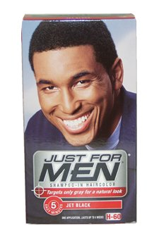 Just For Men shampooing Couleur des cheveux, Jet Black 60 1 ea