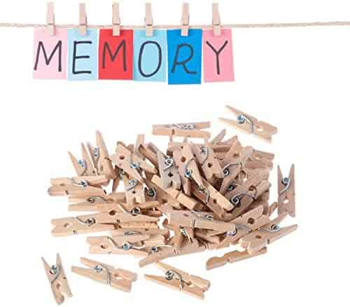 SaveStore Wooden Clothes Photo Paper Pegs Clothespin Cards Craft Clips Sep