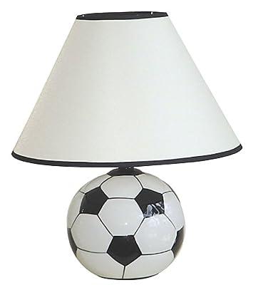ORE International 604SC Ceramic 60-Watt Soccer Table Lamp, White