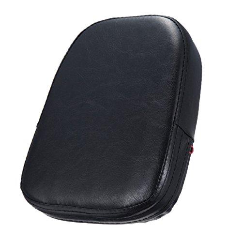 Universal Black Rectangular Backrest Sissy Bar Cushion Pad Kawasaki Honda Suzuki Harley