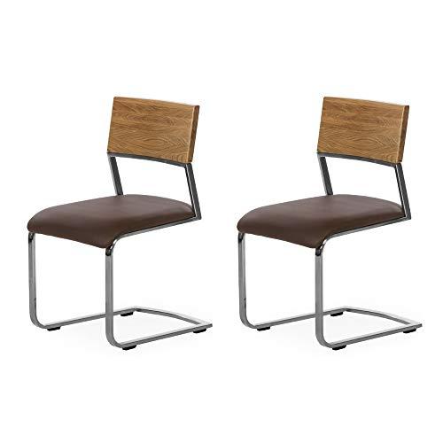 Marca Amazon - Alkove - Hayes - Set de 2 sillas modernas de ...