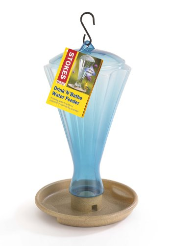 Stokes Select Drink'N'Bathe Water Feeder, 64 fl oz - Glass Bird Waterer