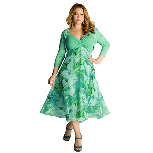 DongDong Hot Sale! Dress Floral Boho Maxi Plus Size Women Summer Evening Party Casual Beach ()