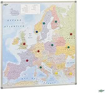 Faibo 203721 - Mapa de Europa, magnético, 93 x 119 cm: Amazon.es ...