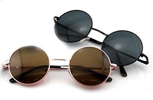 Dongtu New Fashion Unisex Vintage Style Frame Lens Retro Round Sunglasses Retro Eyeglasses Glasses Sunglasses