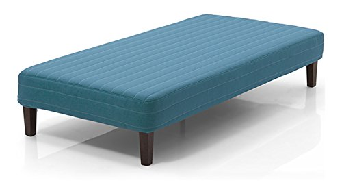 Urban Ladder Mou Bed with Mattress  Colour : Teal