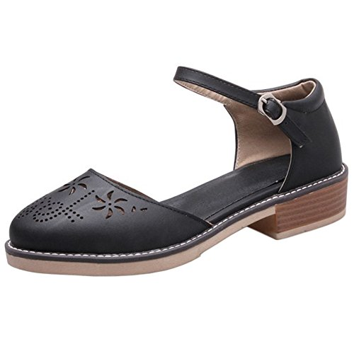 Chaussures Bride 696 Black Femmes Cheville Ete RAZAMAZA wqOvCA7