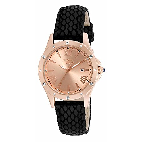 Invicta Women's 14845 Angel Quartz 3 Hand Rose Gold Dial Watch