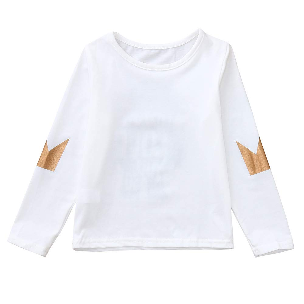 AMSKY Children Kids Long Sleeves Cartoon Letter Print Top T-Shirt Sweatshirt Family Clothes Outfit Set