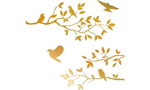 CHROME MIRROR Burnish Birds Blossoms product image