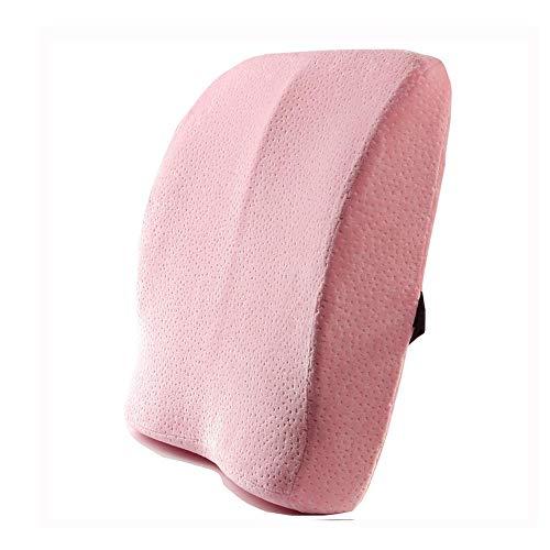 Lumbar Support Pillow Back Cushion, Spring Memory Foam Lumbar Support Pillow, Low Rebound Ergonomic Seat Pad Cushion for Car Home Office Chair Wheelchair Seat ()