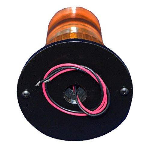 B4L4PACT AMBER 85-265V AC 12W HIGH POWER LED 1/2 NPT PIPE MOUNT EMERGENCY WARNING LIGHT BEACON STROBE EFFECT 110V 120V 220V ()