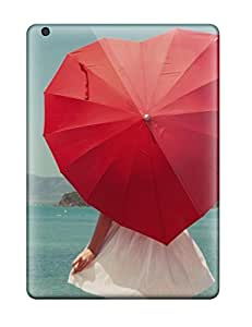 Christopher B. Kennedy's Shop 1803698K50954002 New Style Tpu Air Protective Case Cover/ Ipad Case - Girl With Heart Shape Umbrella