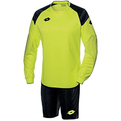 Lotto Mens Cross Long Sleeve Top and Shorts Goal Keeper Kit (M) (Yellow Neon/Black)