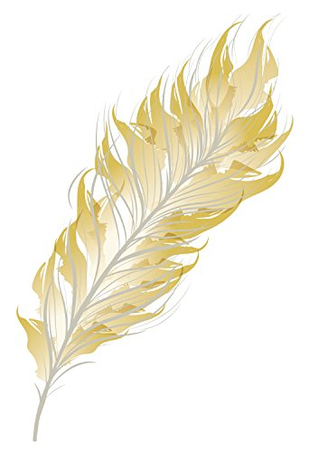 Metallic Gold & Silver Feather Temporary Tattoo Set - Bohemian, Western, Festival Accessory - Friend Gift - Party Favor - Set of 2 - 4