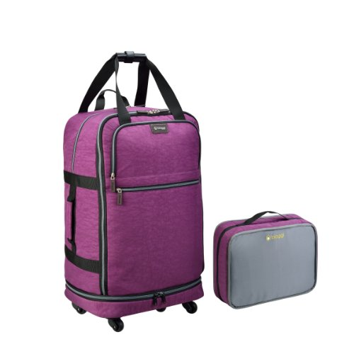 Biaggi Zipsak Micro-Fold Spinner Suitcase - 27-Inch Luggage - As Seen on Shark Tank - Purple ()