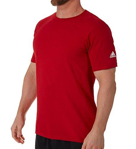 Adidas Adult Short Sleeve Logo T-Shirt University Red (Adidas Logo Short Sleeve Tee)