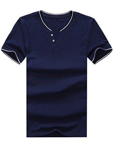 in T maniche uomo shirt a corte Glestore da manica corta Tx0904 cotone Cr0yq4Cw