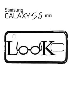 Look Geek Nerd Glasses Mobile Cell Phone Case Samsung Galaxy S5 Mini Black by icecream design