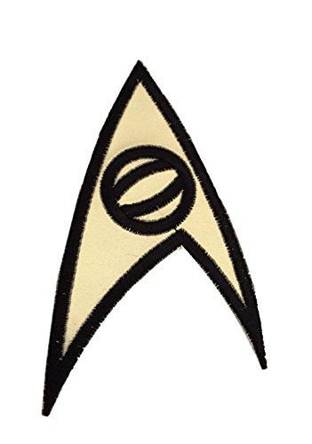 Star Trek Original Series Uniform (Star Trek Original Series Science Insignia Uniform Gold Iron On Patch)