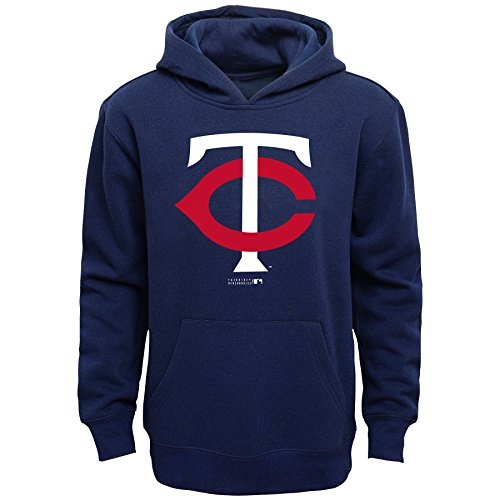 Fleece Minnesota Twins Pullover - Outerstuff MLB Minnesota Twins Boys Primary Logo Fleece Hoodie, Athletic Navy, Size 10/12